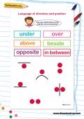 Language of direction and position worksheet
