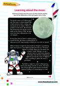 Learning about the moon worksheet