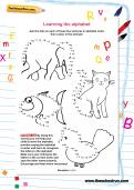 Learning the alphabet join-the-dots worksheet