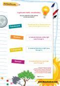Light and dark vocabulary worksheet