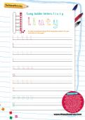 Handwriting worksheet: long ladder letters