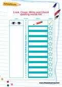 Look, Cover, Write and Check spelling words list
