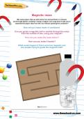 Magnetic maze worksheet