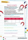 Magnets investigation worksheet