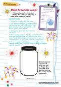 Make fireworks in a jar activity