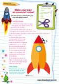 Make your own air-powered rocket