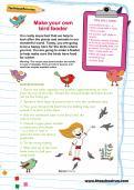 Make your own bird feeder activity