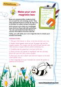 Make your own magnetic bee