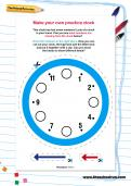Make your own practice clock worksheet