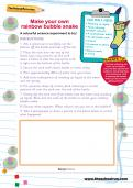 Make your own rainbow bubble snake activity
