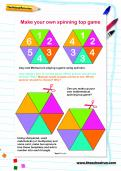 Make a spinning top game activity