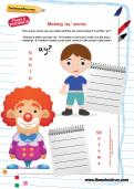 Making -ay words worksheet
