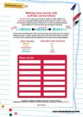 Making new words with suffixes and prefixes worksheet