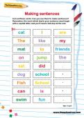 Making sentences activity