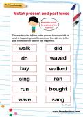 Match present and past tense worksheet