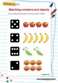 Matching numbers and objects worksheet