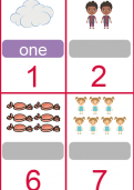 Matching numbers, pictures and words tutorial