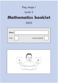 2003 Maths SATs Papers
