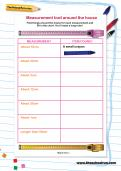 Measurement trail around the house worksheet