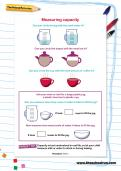 Measuring capacity worksheet