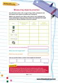 Measuring objects practice worksheet