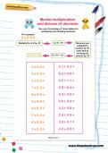 Mental multiplication and division of decimals