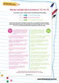 Mental multiplication problems: Y3, Y4, Y5 football worksheet