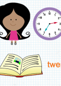Telling the time minutes to the hour tutorial