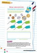 Money: values and coins worksheet