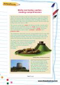 Motte and bailey castles: reading comprehension
