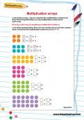 Multiplication arrays worksheet