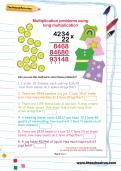 Multiplication problems using long multiplication worksheet