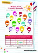 Multiply by 10 worksheet
