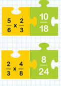 Multiplying pairs of fractions tutorial