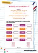 Multiplying pairs of multiples of 10 worksheet