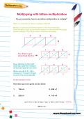 Multiplying with lattice multiplication worksheet