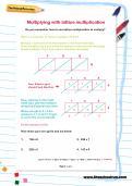 Multiplying with lattice multiplication worksheet