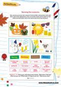 Naming the seasons worksheet