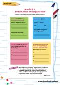 Non-fiction: text structure and organisation worksheet