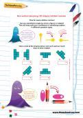 Non-verbal reasoning worksheet: 2D shapes rotation revision