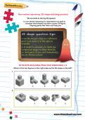 Non-verbal reasoning worksheet: 3D shape-building practice