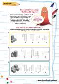 Non-verbal reasoning worksheet: Building 3D figures