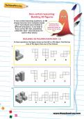 Non-verbal reasoning worksheet: Building 3D figures