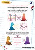 Non-verbal reasoning worksheet: Complete the grid