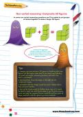 Non-verbal reasoning worksheet: Composite 3D figures