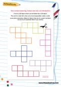 Non-verbal reasoning worksheet: Cubes and nets: an introduction