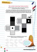 Non-verbal reasoning worksheet: Cubes practice