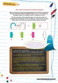 Non-verbal reasoning worksheet: Finding analogies