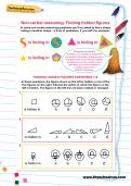 Non-verbal reasoning worksheet: Finding hidden figures