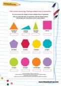 Non-verbal reasoning worksheet: Finding multiple lines of symmetry